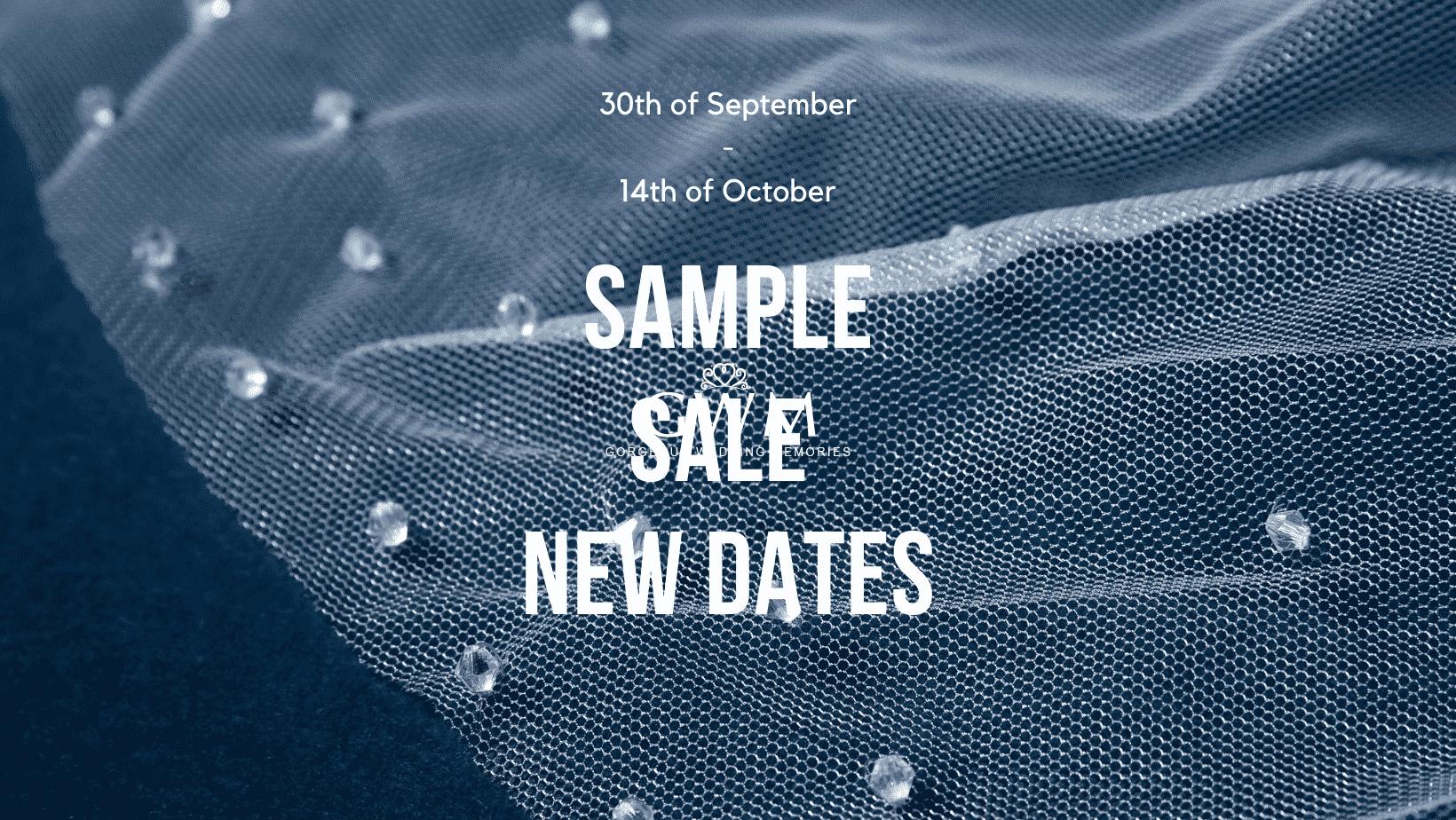 Sample Sale – New Dates!